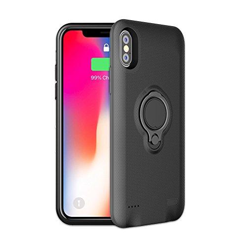 iPhone X Akku Case, feeleye 5000mAh wiederaufladbare Ladegerät Erweiterter Schutz Tragbare Backup Ladegerät Fall Fall Ladekabel für iPhone X/10(14,7cm) Lightning Kabel Eingang Modus mit Sync (Iphone-batterie-ladegerät-fall)