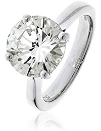 4, 33CTS/certificado G VS2 corte brillante diamante solitario anillo en 18 K oro blanco