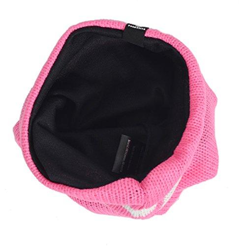 forbusite pour enfant à rayures Slouch Bonnet en tricot doux Rose