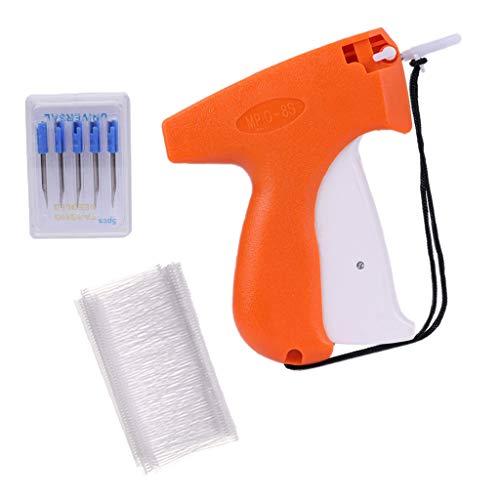 stole Heftpistole Etikettiermaschine mit 5 Ersatznadeln und 1000 Heftfäden für Kleidung Preis Etiketten Schilder Marke Tags Labels - Orange ()