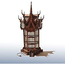 HRMAOI®,estilo del sudeste asiático, lámpara del piso de la sala, la iluminación del hotel de madera, luces de jaula habitación, 35 * 86cm