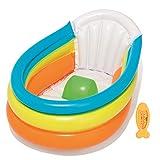 Bestway - Up, In & Over Baby Badewanne, mit Thermometer, Rückenlehne und aufblasbarem Rippenboden, 76 x 48 x 33 cm