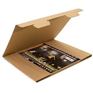 Kalenderverpackung 1-wellig, A2, braun, Abm (LxBxH): 630x430x10mm, Qual. 1.2B, 75 Stück