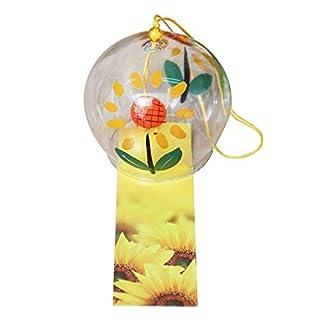 Windspiel Wind Glocken Handgefertigt Glas Geburtstag Geschenk Weihnachten Geschenk Home Decors Wind Chimes japanischen Stil, (Sonnenblume)