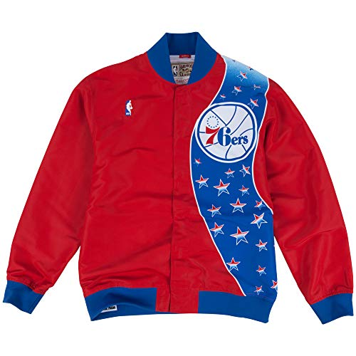 Mitchell & Ness Philadelphia 76ers NBA Authentic Warm Up Jacket Jacke Anorak Windbreaker Warm Up Windbreaker Jacken