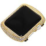 JIANGJIE Für die Iwatch/Apple Watch Serie 3/2/1 Protection Frame mit Rhinestone Diamond Metal Case Bezel,38mm,42mm