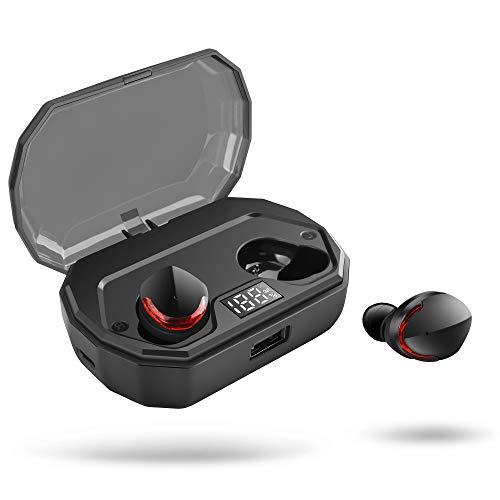 Auriculares Bluetooth, Auriculares Inalambricos Bluetooth 5.0 Control Tactil, Impermeable IPX8 Total 130H Utilizar con 3000mAh Caja de Carga Portátil, Hi-Fi Estéreo Reducción de Ruido CVC8.0 Mic