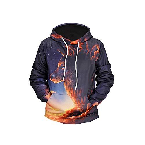 Fashion Men Es Plus Größe Aktive 3D-Tier Lange Ärmel Hoodie Casual Sweatshirt Halloween-Kostüme, Moderne Stil Hooded,1,L