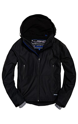 Superdry Elite Windcheater, Chaqueta Deportiva para Hombre, Negro (Black 02A), M
