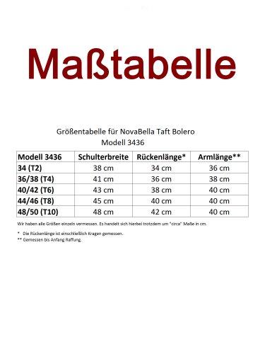 NovaBelle -  Vestito  - Camicia - Basic - Maniche a 3/4 - Donna Blau-Lila