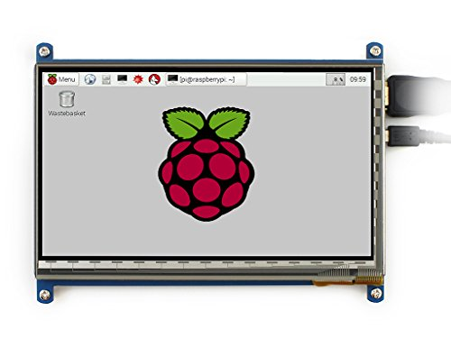 Waveshare 7 inch 800*480 Capacitive Touch Screen LCD Display HDMI Interface Custom Raspbian Angstrom Supports Various Systems for All Version of Raspberry pi Beaglebone Black Banana Pi / Banana Pro Video Photo Module