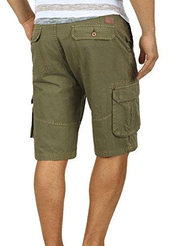 BLEND Renji Herren Cargo-Shorts kurze Hose mit Taschen aus 100% Baumwolle Dusty Green (70595)