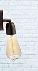 Marical™ Matte Black/Chrome Wall Lamp For Filament Bulb/LED Bulb/Incandescent Bulb - E27 Holder Base - Matte Black Finish