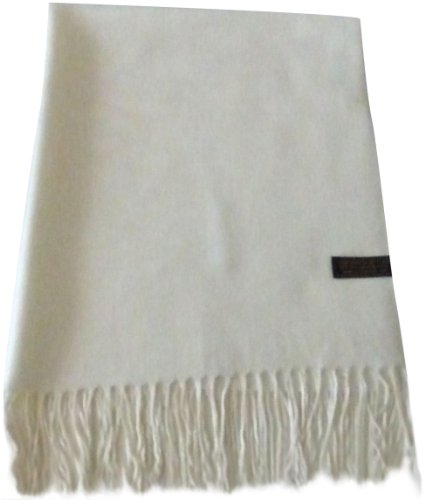 ivory-solid-colour-design-shawl-pashmina-scarf-wrap-stole-throw-cj-apparel-new