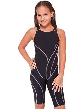 Manta Swim Revolution - Traje de una pieza para competición de niña, color negro, talla 152