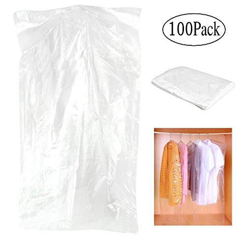 Kleidersack, transparent Anzug Tasche, Kleidung Staub, Gewand und Kleid Staubdicht Rückbeleuchtung Aufbewahrungstasche (Vinyl-anzug-tasche Klare)