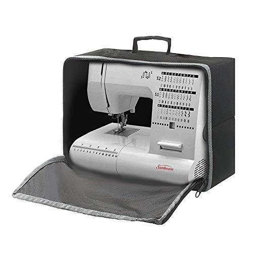 Funda para máquina de coser y funda de transporte, cubierta antipolvo, plegable y compacta, se adapta a todas las máquinas de coser estándar Brother Singer HZC1582
