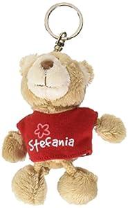 NICI n15844-Llavero Oso con Camiseta Stefania, Rojo