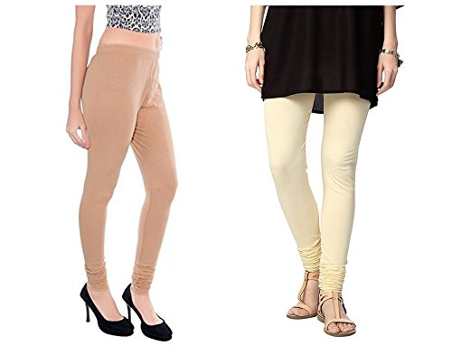 Roop Trading Co girls cotton material, churidar full length legging style,Beige-cream colour size available- XL,XXL,XXL