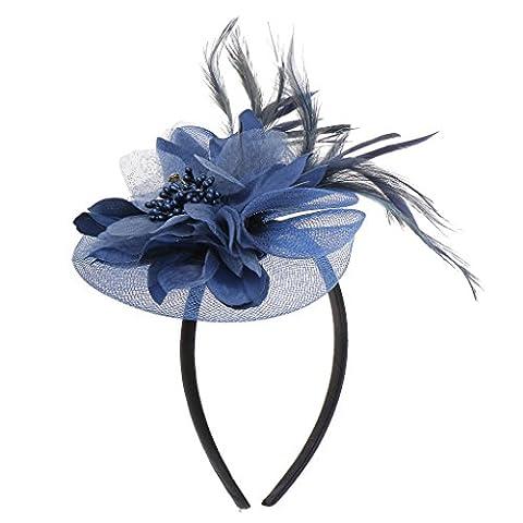 Serre-tête à Fleur Plume Voile Chapeau Mariage Costume de Fête