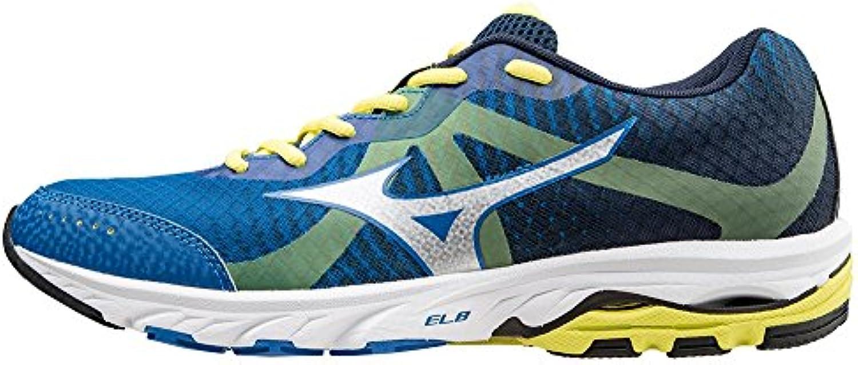 Mizuno Scarpa Running Sneaker Uomo Wave Elevation Blu Grigio Giallo 45