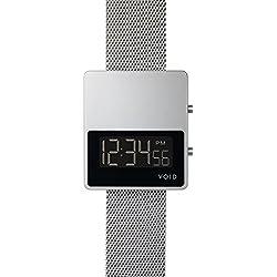 Void V01MKII-SI/MR Quartz Digital Stainless Steel Black Sapphire Mesh Date Unisex Watch