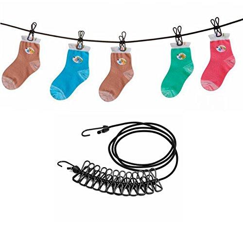 Cuerdas tender ropa - Qiaogle Portátil Cuerda Ropa