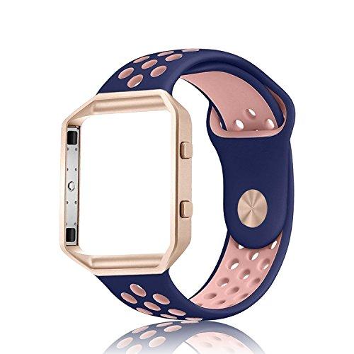 Für Fitbit blaze armbänder mit Rahmen, Adepoy Ersatz Sport Silikon weich band Armband für Fitbit Blaze Smart Fitness Uhr