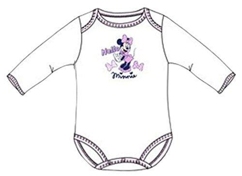 Disney Baby Minnie Maus Baby Body Langarm- Minnie, Gr.-18 Monate, Rosa