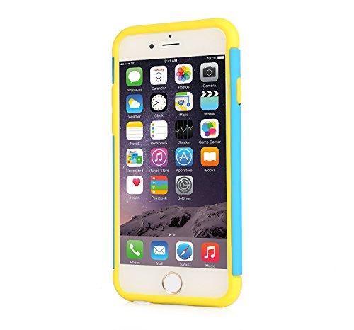 iPhone 6s Hülle, Pasonomi® iPhone 6 [Outdoor] [Dual Layer] Bumper Case Tasche Schutzhülle für iPhone 6s iPhone 6 4.7 zoll (iPhone 6S, Lila) Blau