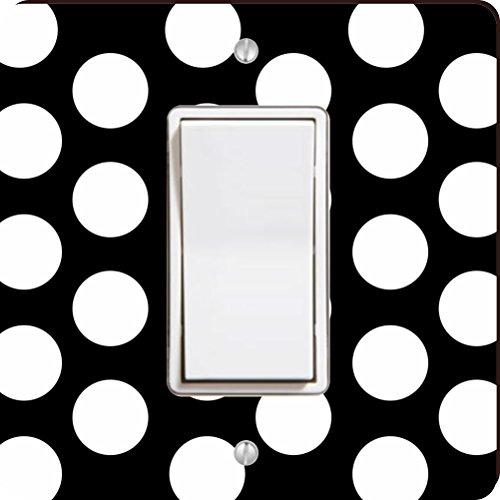 Rikki Knight weiß auf schwarz Polka Dots Single Wippe Licht Teller (Und Weißen Schwarzen Polka-dot-platten)