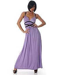 Fashion Damen Maxikleid Kleid lang in A-Linie mit Trägern | Party Cocktail Club Dress | weitere Farben