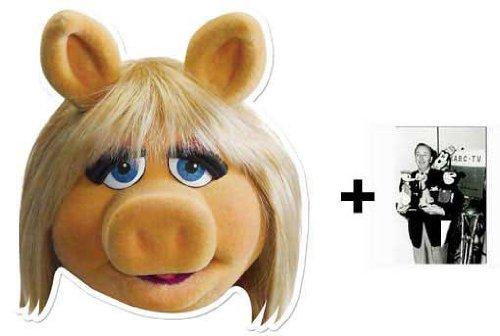 Miss Piggy Karte Partei Gesichtsmasken (Maske) (The Muppets) - Enthält 6X4 (15X10Cm) starfoto