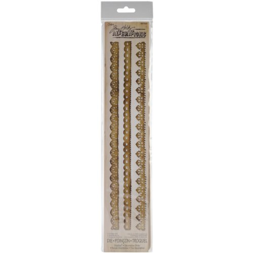 FUSTELLA SOTTILE SIZZIX DECORATIVE STRIP VINTAGE LACE BY TIM HOLTZ 657481