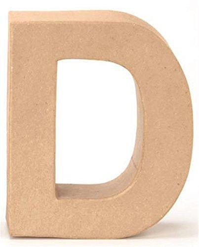 Papp-Buchstabe D 17,5x5,5cm (Basteln Buchstaben D)