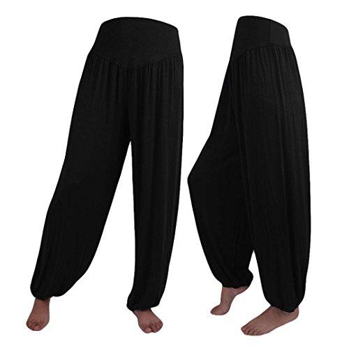 OSYARD Damen Elastische Lose Beiläufige Modale Baumwolle Weiche Haremshose, Casual für Sport Yoga Tanz Jogging Dance Falten Pluderhosen