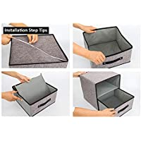 zhang-hongjun,Cajón de Caja de Almacenamiento de Tela Lavable(Color:Gris