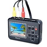 Video Grabber digitalisiert Videobänder Direkt auf Speicherkarte, Video-zu-Digital-Konverter für Videorecorder, VHS-Kassetten, Hi8, Camcorder, DVD, Digitaler Videoaufnahme
