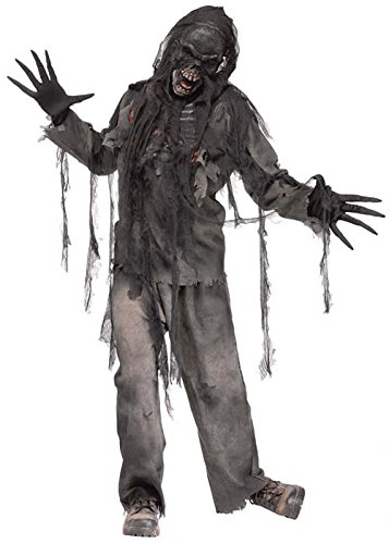 Mens Halloween Scary verbrannt Zombie - Burnt Zombie Kostüm