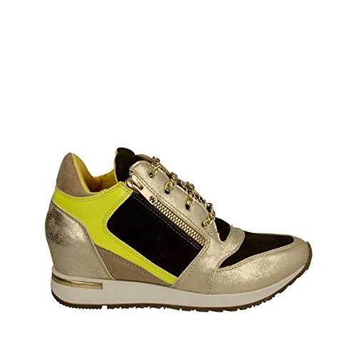 Osey - Sneaker zeppa oro giallo - 38, Gold
