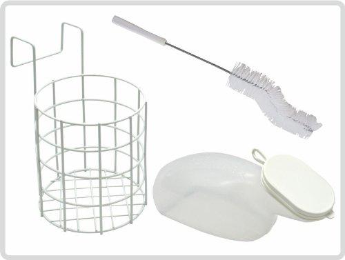 Urinflaschen-Set, michlig mit Bürste und Urinflaschenhalter für Frauen