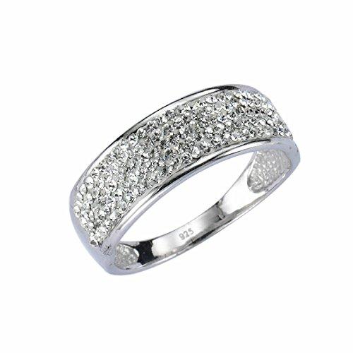 Crystelle Damen-Ring 925 Sterling Silber Gr. 20 340270001-020