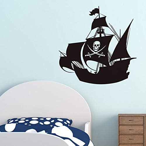 59x59cm Pirate Ship Wall Stickers For Kids Room Decorative Vinyl Adhesive Wallpaper Transport Wall Decals Home Decor (Room Pirate Decor)
