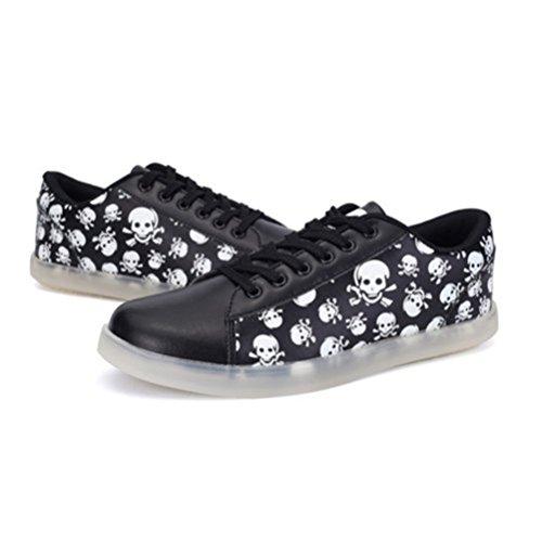 Licht Laufschuhe Schwarz Leuchtend Mode Schuhe kleines Sportschuhe Freizeitschuhe Nacht F present Outdoorschuhe Sneaker junglest® Farbe Handtuch YXwTZqP
