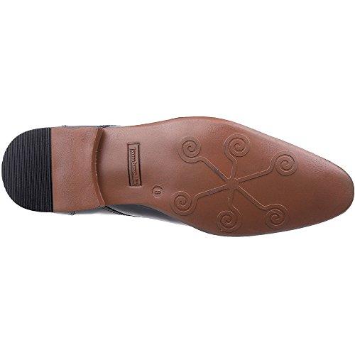 Lambretta Mens Thorburn Plain Toe Hi Shine Lace Up Oxford Smart Shoes Black Patent Shine