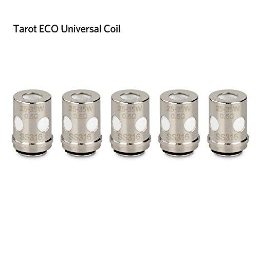 Vaporesso Tarot Nano Verdampferkopf Mini 80W E Zigarette/ E shisha, Tarot ECO Universal Coil(EUC)0,50Ω, ohne Nikotin, 5 Stück