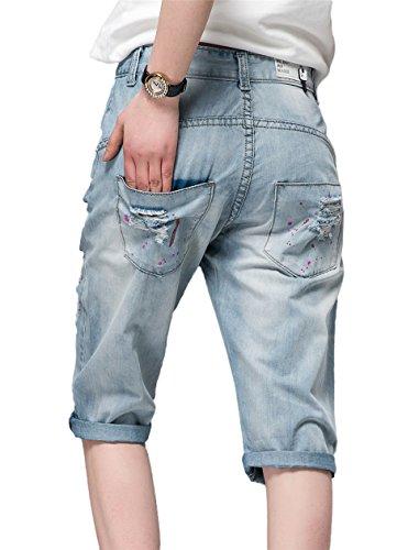 DQQ Damen Short Blau - Hellblau