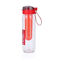 Steelo 750ml x 1 pcs Sante Fruit Infuser Water Bottle�Red Color