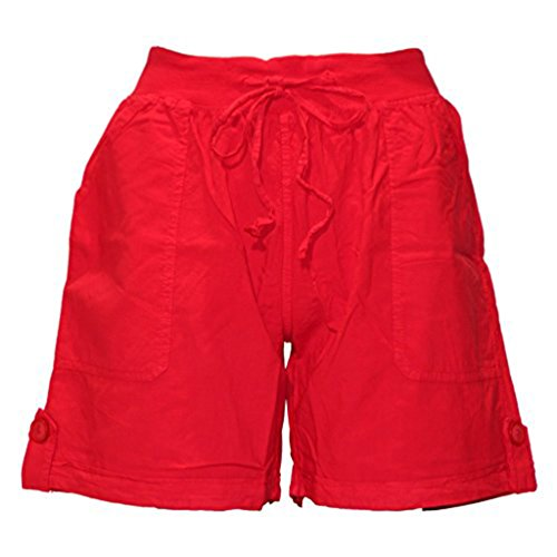 Lockere Shorts aus Baumwolle Rot