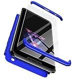 TXLING Cover Huawei Honor 8X 360 Gradi Full Body Protezione, Custodia Huawei Honor 8X Rigida Snap On Struttura 3 in 1 Case + (1 Pezzi) Pellicola Protettiva - Blu